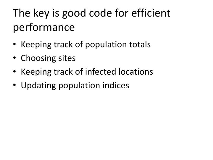 The key is good code for efficient performance
