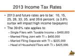 2013 income tax rates