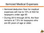 itemized medical expenses