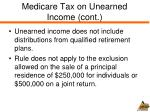 medicare tax on unearned income cont