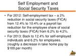 self employment and social security taxes
