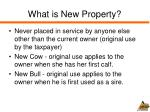 what is new property