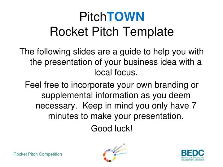 Ppt pitch town rocket pitch template powerpoint presentation id pitchtownrocket pitch template flashek