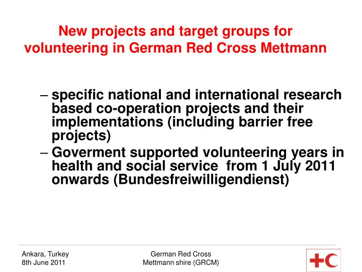 New projects and target groups for volunteering in German