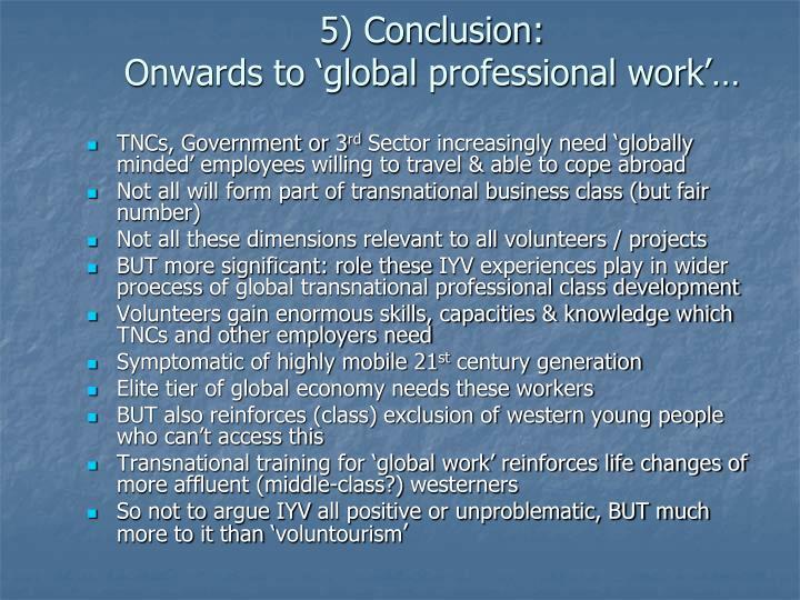 5) Conclusion: