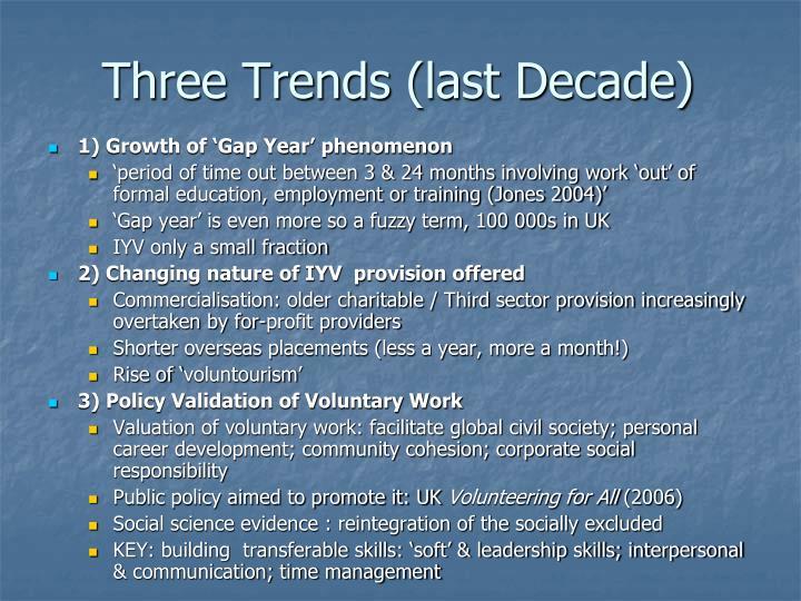 Three Trends
