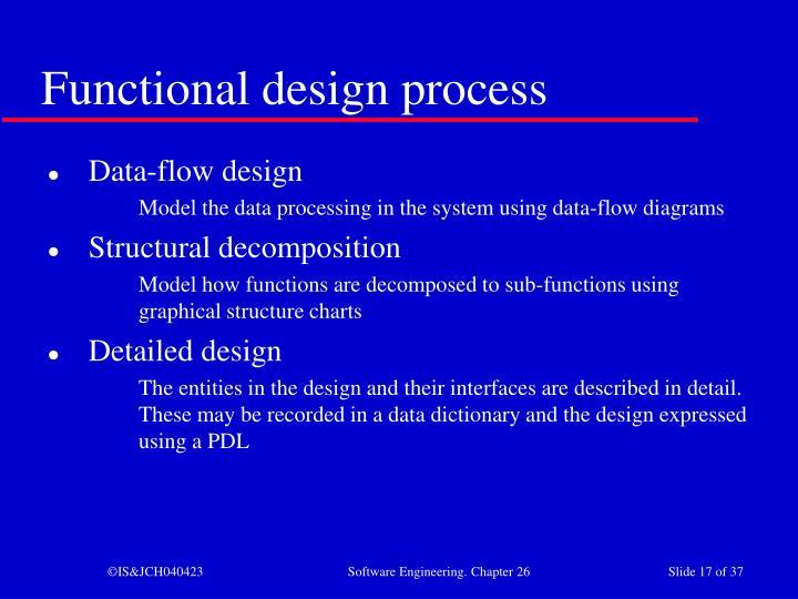 Functional design process