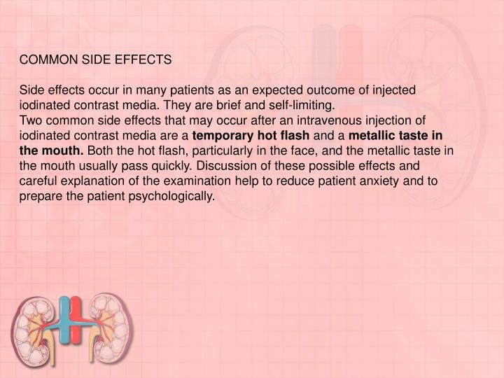 COMMON SIDE EFFECTS