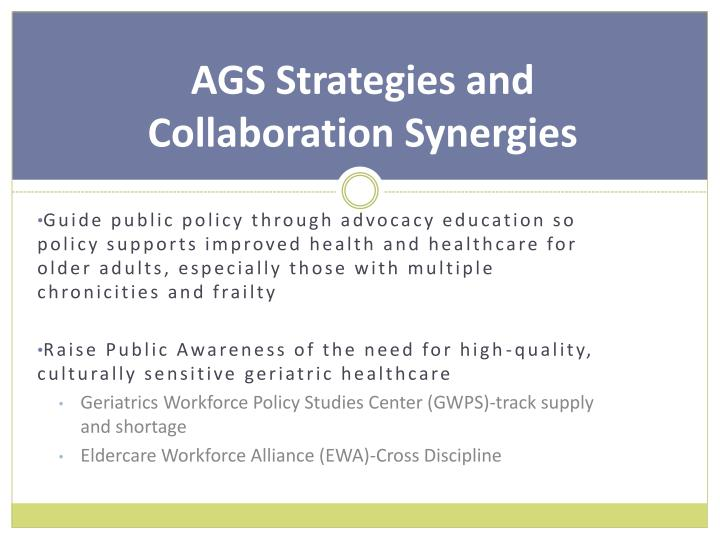 AGS Strategies and Collaboration Synergies