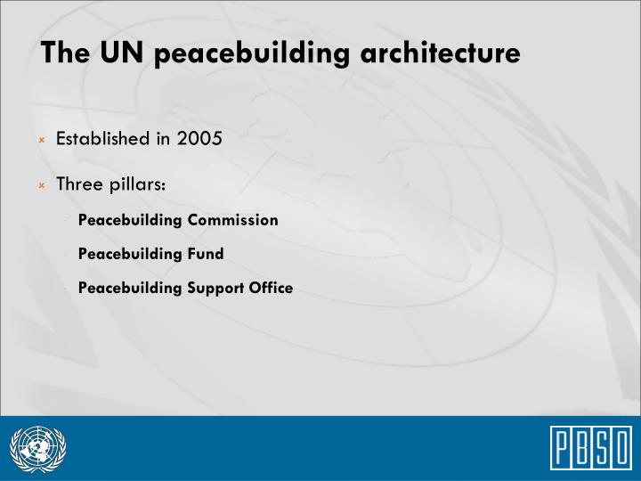 The UN peacebuilding architecture