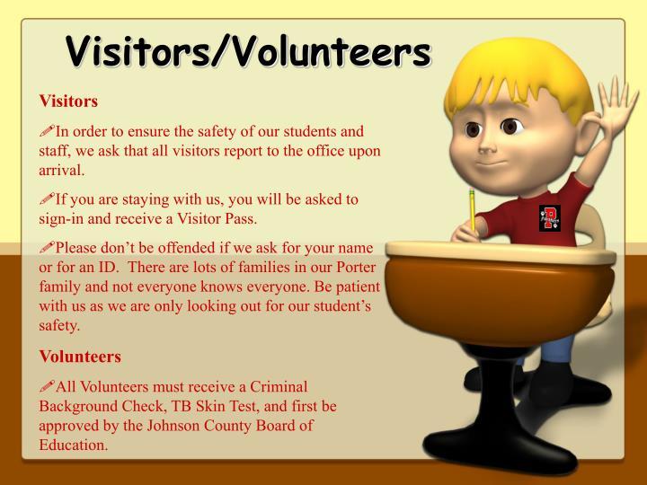 Visitors/Volunteers