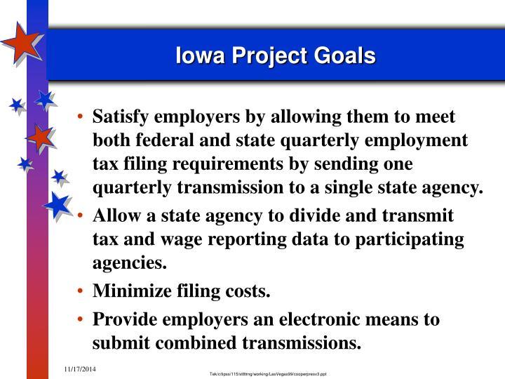 Iowa project goals