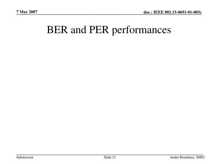 BER and PER performances