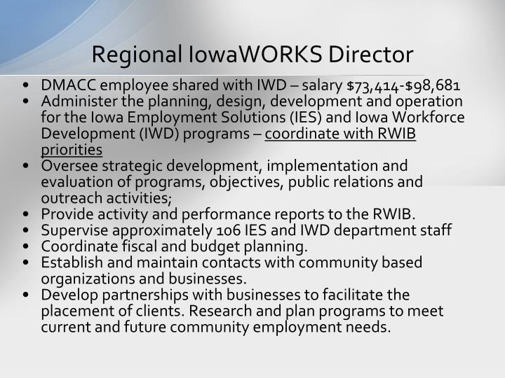 Regional IowaWORKS Director