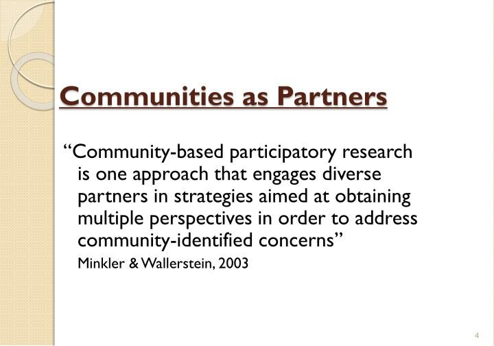 Communities as Partners