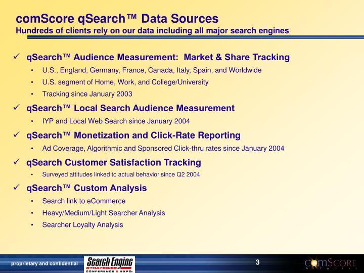 ComScore qSearch
