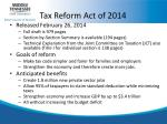 tax reform act of 2014