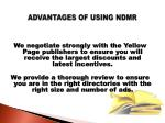 advantages of using ndmr