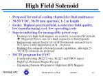 high field solenoid