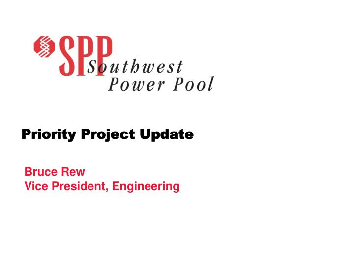 Priority project update