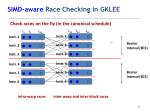 simd aware race checking in gklee