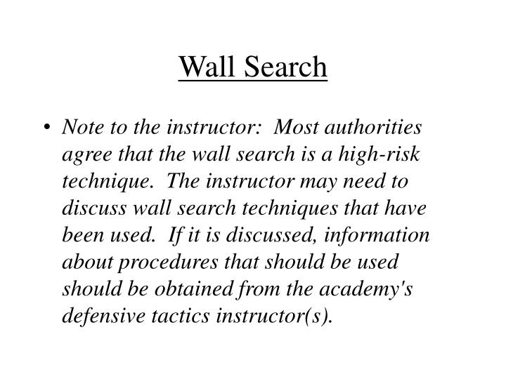Wall Search
