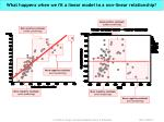 what happens when we fit a linear model to a non linear relationship