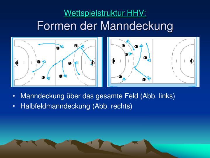 Wettspielstruktur HHV: