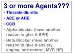 3 or more agents