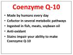 coenzyme q 10
