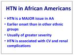 htn in african americans