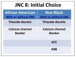 jnc 8 initial choice