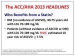 the acc aha 2013 headlines1
