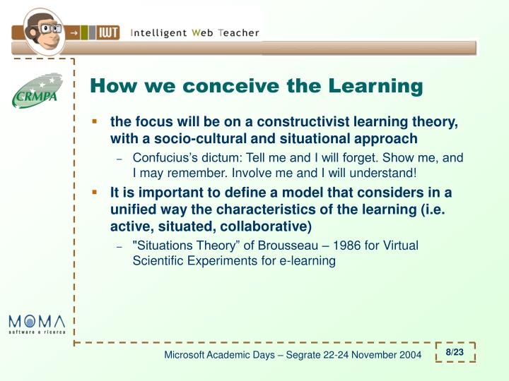 How we conceive the Learning