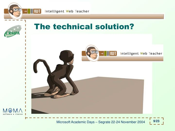 The technical solution?