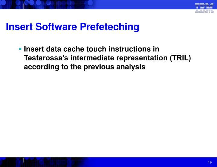 Insert Software Prefeteching