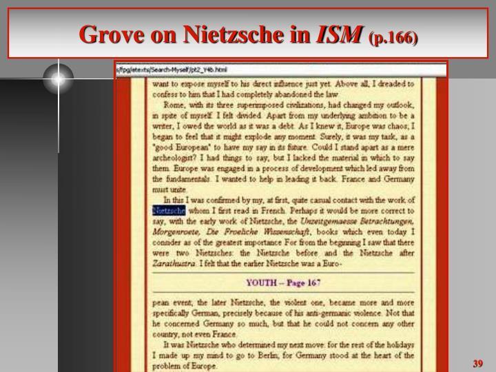 Grove on Nietzsche in