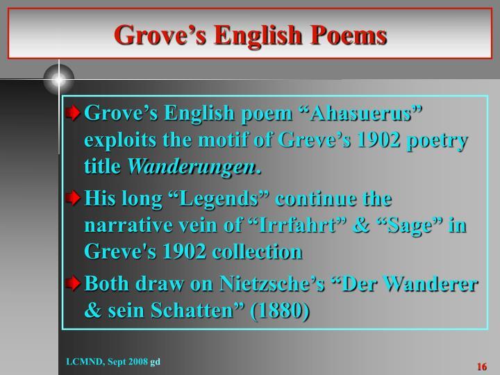 Grove's English Poems