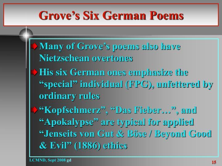 Grove's Six German Poems