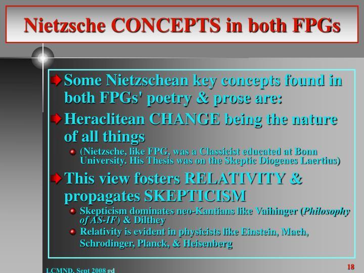 Nietzsche CONCEPTS in both FPGs