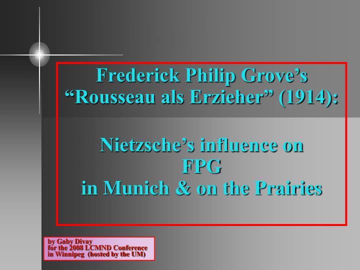 Frederick Philip Grove's