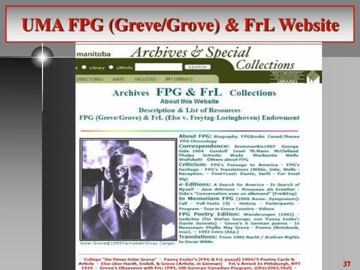 UMA FPG (Greve/Grove) & FrL Website