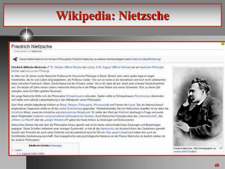 Wikipedia: Nietzsche