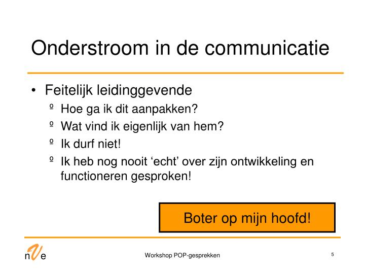 Onderstroom in de communicatie