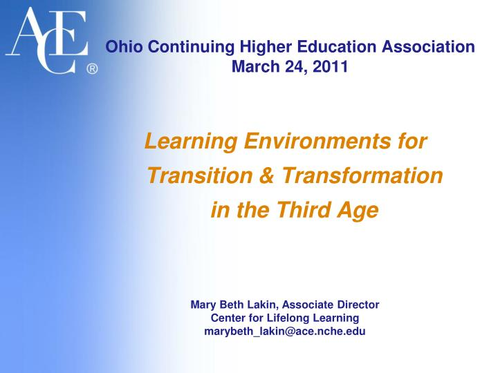 ohio continuing higher education association march 24 2011 n.
