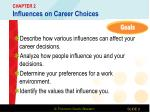 chapter 2 influences on career choices