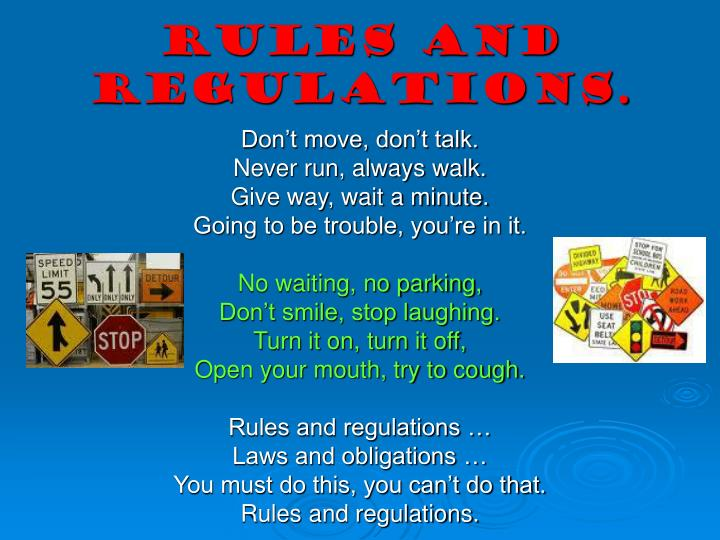 Rules and regulations.