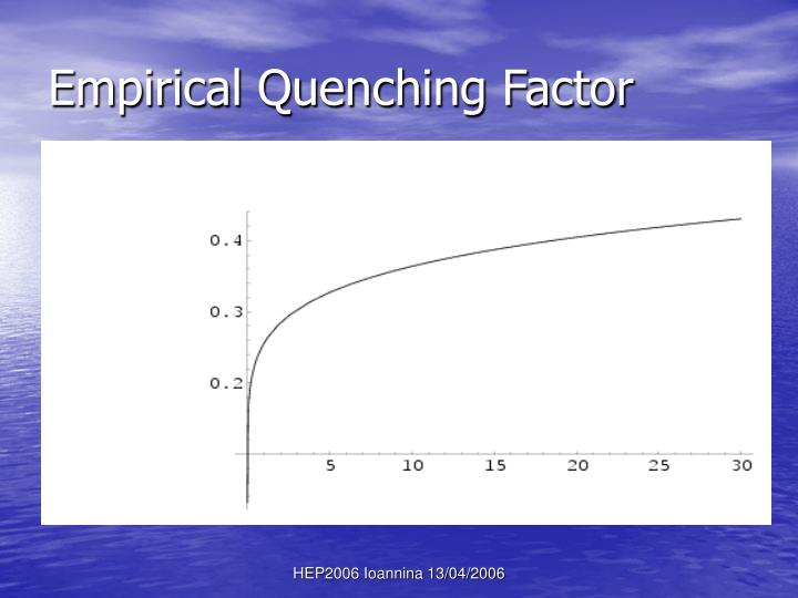 Empirical Quenching Factor
