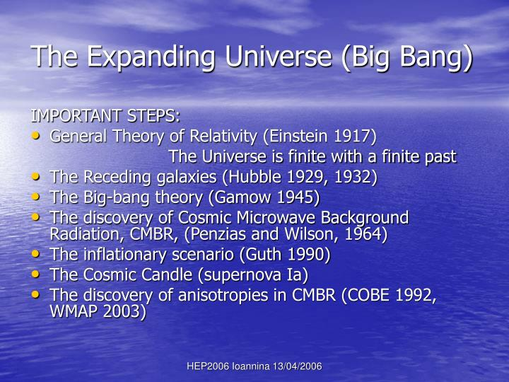 The Expanding Universe (Big Bang)
