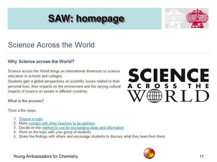 SAW: homepage